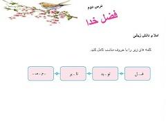 نموونه اسلایدپاورپوینت درس دوم فارسی نوشتاری پایۀ پنجم دبستان